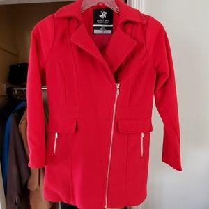 Girls Red Coat